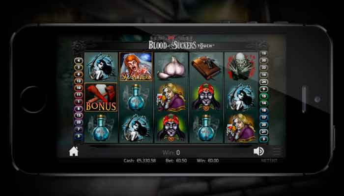 Spielautomaten auf Mobile Bild von Blood Suckers NetEnt