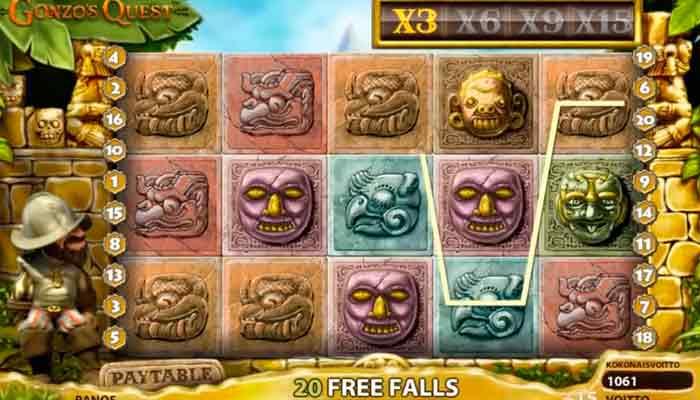 Gonzos Quest Online-Spielautomaten NetEnt
