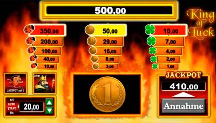 King of Luck Merkur-Spielautomaten