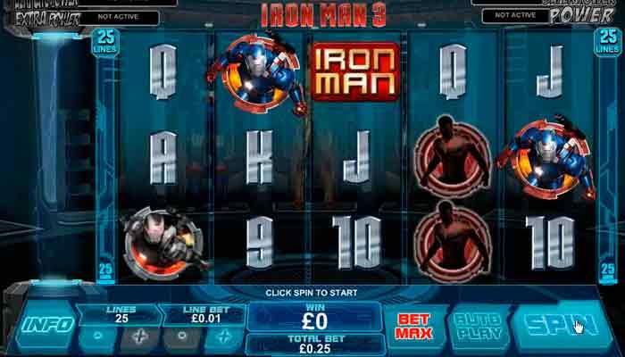 Marvel Jackpot Slot Iron Man