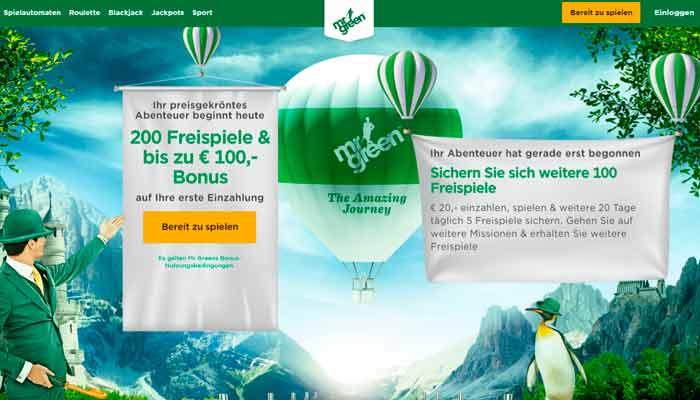 Mr Green Deutsche Internet Casino